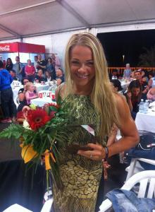 Awards with flowers