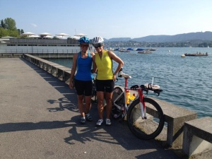 IM Zurich with Dajana by the lake